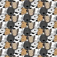 Hand Drawn Cute Dogs Pattern Illustration