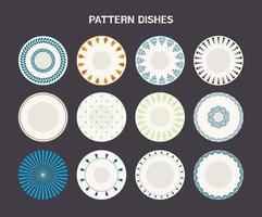 Gerichte mit Mustern gesetzt
