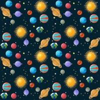 Seamless pattern di pianeti