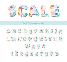 Mermaid Scale Trendy Font Set vector