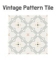 Tile geometric line glyph pattern