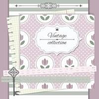 Vintage Scrapbook Notebook Cover Design vector