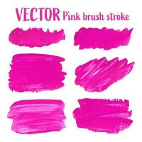 Electric Pink brush stroke isolated on white background