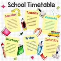 Back To School Graph Timetable