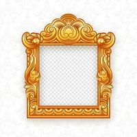 Gold Thai Themed Picture Frame vector