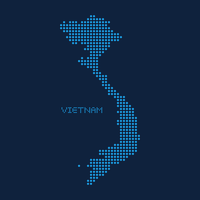 Abstract Dotted Map Of Vietnam