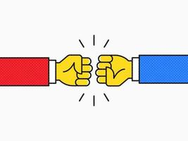 Fist Bump Pop Vector Design