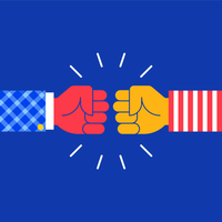 Fist Bump Friendship Sign Vector