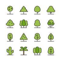 Conjunto de ícones de árvore