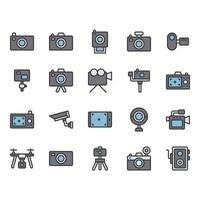Camera related icon set