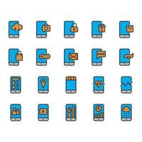 Mobile application icon set