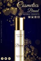 Banner de publicidad cosmética de lujo