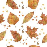 Nature seamless pattern with autumn leaves