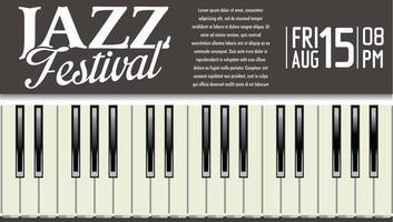 Affiche du festival de jazz avec touches de piano