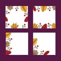 Autumn leaves banners set