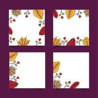Set di banner di foglie d'autunno