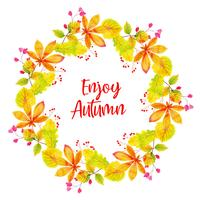 Bella acquerello Autumn Leaves Wreath