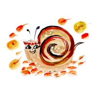 Aquarelle escargot