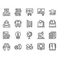 Utbildning ikonuppsättning