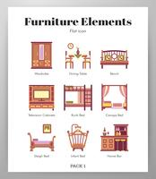 Furniture elements flat pack