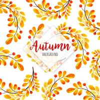 Hermoso fondo otoño acuarela