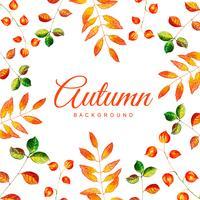 Fondo de hojas de otoño acuarela