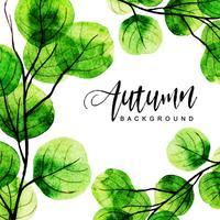 Fondo acuarela otoño