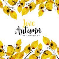 Fundo bonito de outono em aquarela