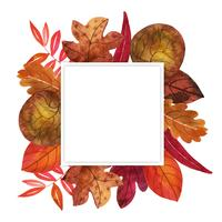 Akvarell Autumn Leaves Frame