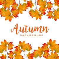 Watercolor Autumn Background vector