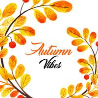 Beautiful Watercolor Autumn Background vector