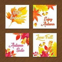 Mooie aquarel herfst kaarten collectie
