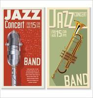 Ensemble de bannière de festival de jazz