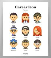 Flat pack icona di carriera