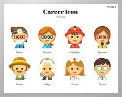 Pack plat d'icônes de carrière