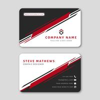 Modern Business Card Template with Abstract Design vector