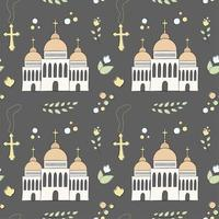 Naadloos patroon van doopkerk