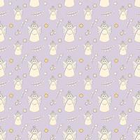 Seamless Pattern of Baptême Ange