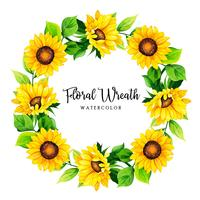 Watercolor Floral Wreath Frame