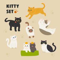 Nette Katzen eingestellt