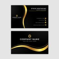 Premium Golden Business Card Template vector