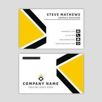 Moderne Visitenkarte-Schablone mit abstraktem Design
