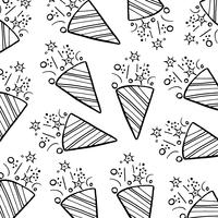 Preto e branco padrão de celebração