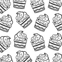 Svartvitt muffinmönster