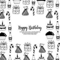 Quadro de aniversário Handdrawn