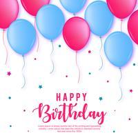 Feliz cumpleaños, fondo vector