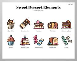 Sweet dessert elements LineColor