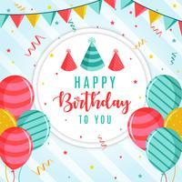 Vector fondo de feliz cumpleaños