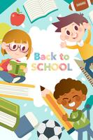Back to school poster graphic templates