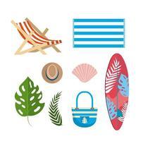Set zomer levensstijl elementen